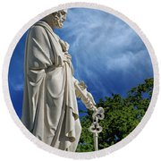 Saint Peter With Keys To Heaven Round Beach Towel