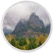 Saint Peters Dome At Columbia River Gorge Round Beach Towel