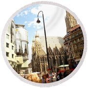 Saint Stephen Round Beach Towel