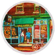 Saint Viateur Bakery Round Beach Towel