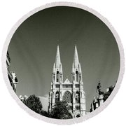 Saint Vincent De Paul Marseille Round Beach Towel