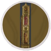 Saints Nicholas Damian And Margaret   Right Pilaster Round Beach Towel