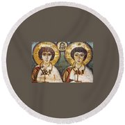 Saints Sergius And Bacchus Round Beach Towel