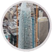 Salesforce Tower In San Francisco Round Beach Towel