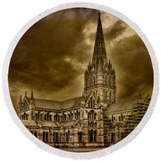 Salisbury Cathedral Round Beach Towel