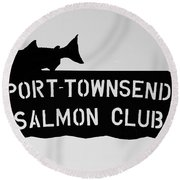 Salmon Club Round Beach Towel