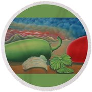 Salsa Across Texas Round Beach Towel