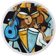 Salsa Night Round Beach Towel