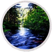 Salt Creek Falls Round Beach Towel