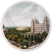 Salt Lake City Round Beach Towel
