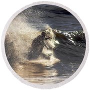 Salt Spray Surfing Round Beach Towel