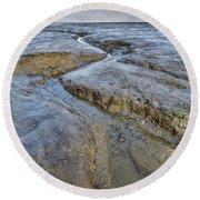 Saltings Channel Round Beach Towel