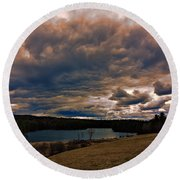Saltmarsh Pond Gilford Nh Round Beach Towel