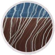 Saltwater Trails #1 Round Beach Towel