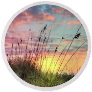 Salty Breeze On The Dunes Round Beach Towel
