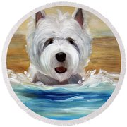 Salty Dawg Round Beach Towel