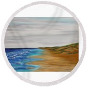 Salty Morning Round Beach Towel