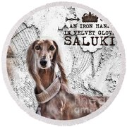 Saluki - The One And Only Round Beach Towel
