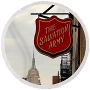 Salvation Army New York Round Beach Towel