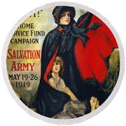 Salvation Army Poster, 1919 Round Beach Towel