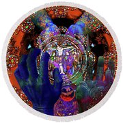 Salvation Within Solar Light Round Beach Towel by Joseph Mosley