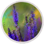 Salvia May Night Art -purple Modern Abstract Art Round Beach Towel