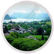 Salzburg Lake District Round Beach Towel