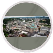 Salzburg Panoramic Round Beach Towel