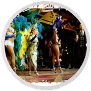 Samba Dancers Round Beach Towel