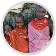 Samburu Sisters Round Beach Towel