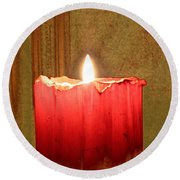 Same Candle New Color Round Beach Towel