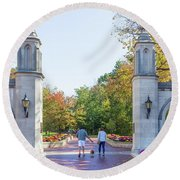 Sample Gates At University Of Indiana Round Beach Towel