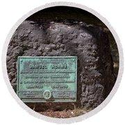 12- Samuel Adams Tombstone In Granary Burying Ground Eckfoto Boston Freedom Trail Round Beach Towel