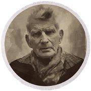 Samuel Beckett 2 Round Beach Towel