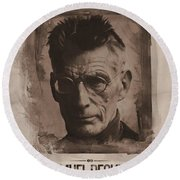 Samuel Beckett 01 Round Beach Towel