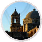 San Antonio Mission Round Beach Towel