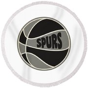 San Antonio Spurs Retro Shirt Round Beach Towel