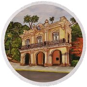 San Carlos Institute Round Beach Towel
