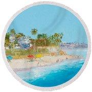 San Clemente Beach Round Beach Towel