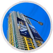 San Diego Apartment Tower Round Beach Towel
