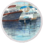 San Diego Mission Bay Round Beach Towel