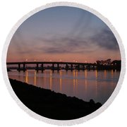 San Diego Sunset 1 Round Beach Towel