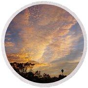 San Diego Sunsrise 4 7/12/15 Round Beach Towel