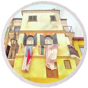 San Felice Circeo Building With The Put Clothes Round Beach Towel