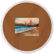 San Francisc Bridge Round Beach Towel