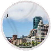 San Francisco Waterfront Round Beach Towel