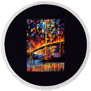 San Francisco - Golden Gate Round Beach Towel