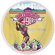 San Francisco 49ers Vintage Program Round Beach Towel