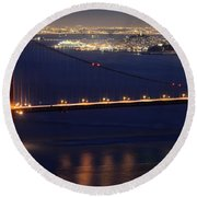 San Francisco At Night Round Beach Towel