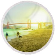 San Francisco Baker Beach Round Beach Towel